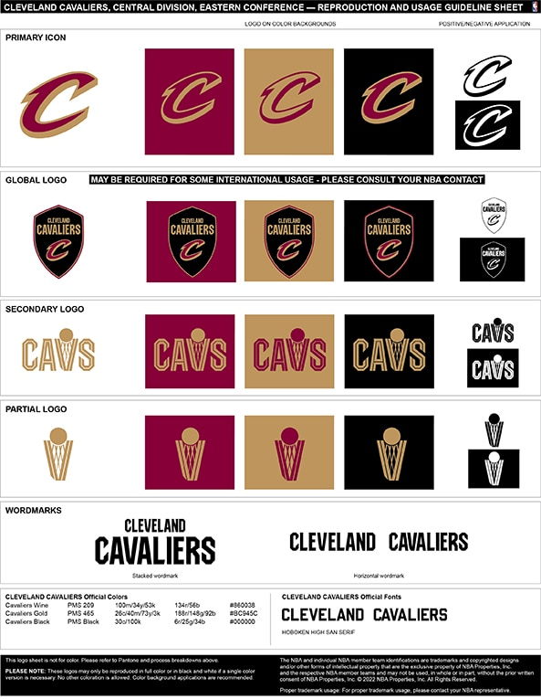 Cleveland Cavaliers Colors Hex Rgb And Cmyk Team Color Codes