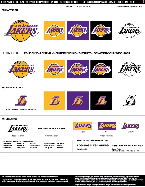 f5d755e84384 Los Angeles Lakers Colors Hex