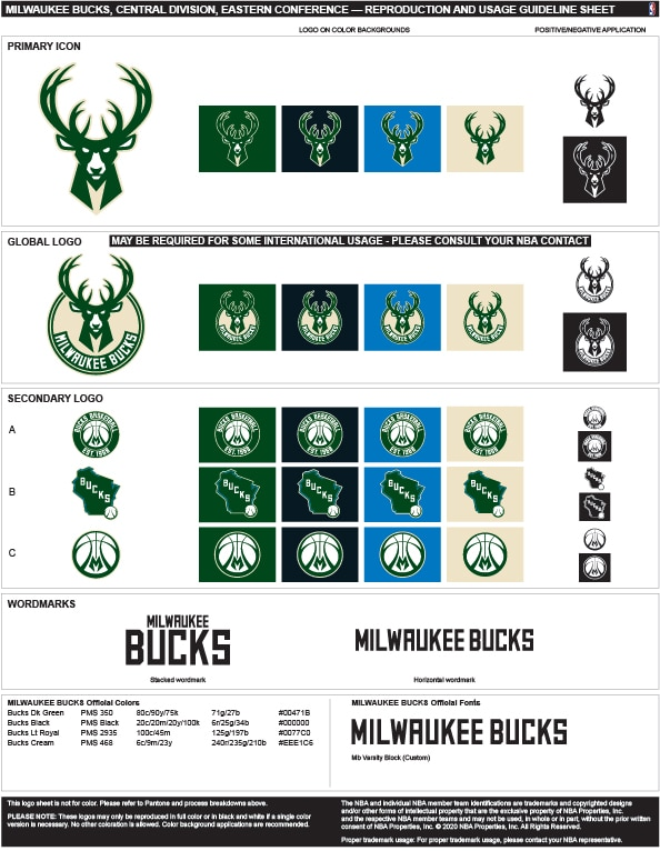 Milwaukee Bucks Colors Hex, RGB, and CMYK - Team Color Codes